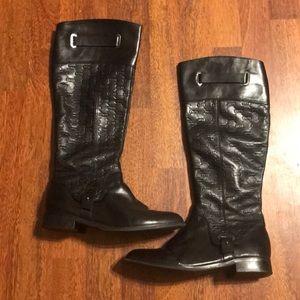 Etienne Aigner black leather boots. Size 7.5.